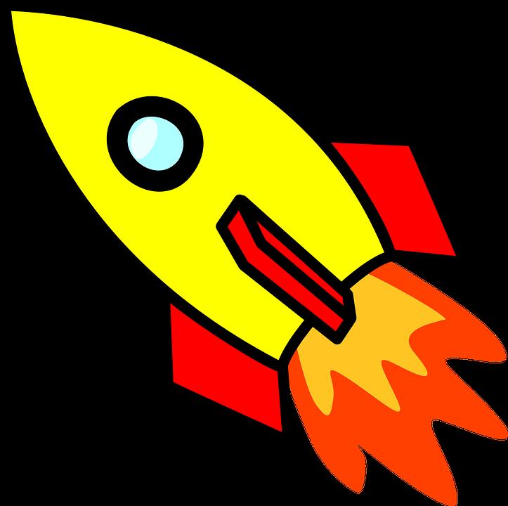 723x720 Spaceship Clipart Free Rocket Spaceship Space Travel Free Vector