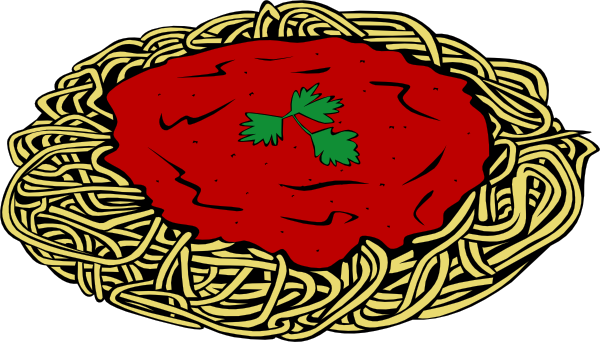 600x342 Spaghetti And Sauce Clip Art Free Vector 4vector