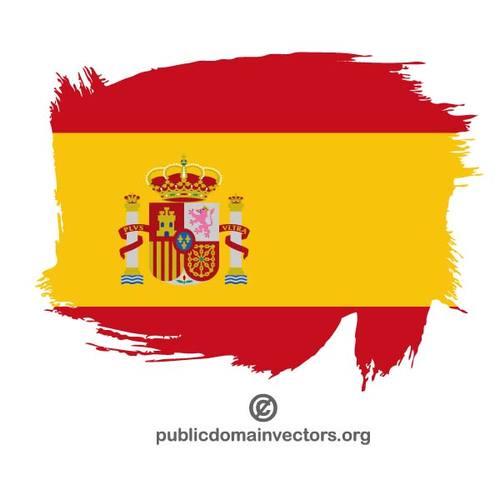 500x500 Flag Of Spain Paint Stroke Public Domain Vectors