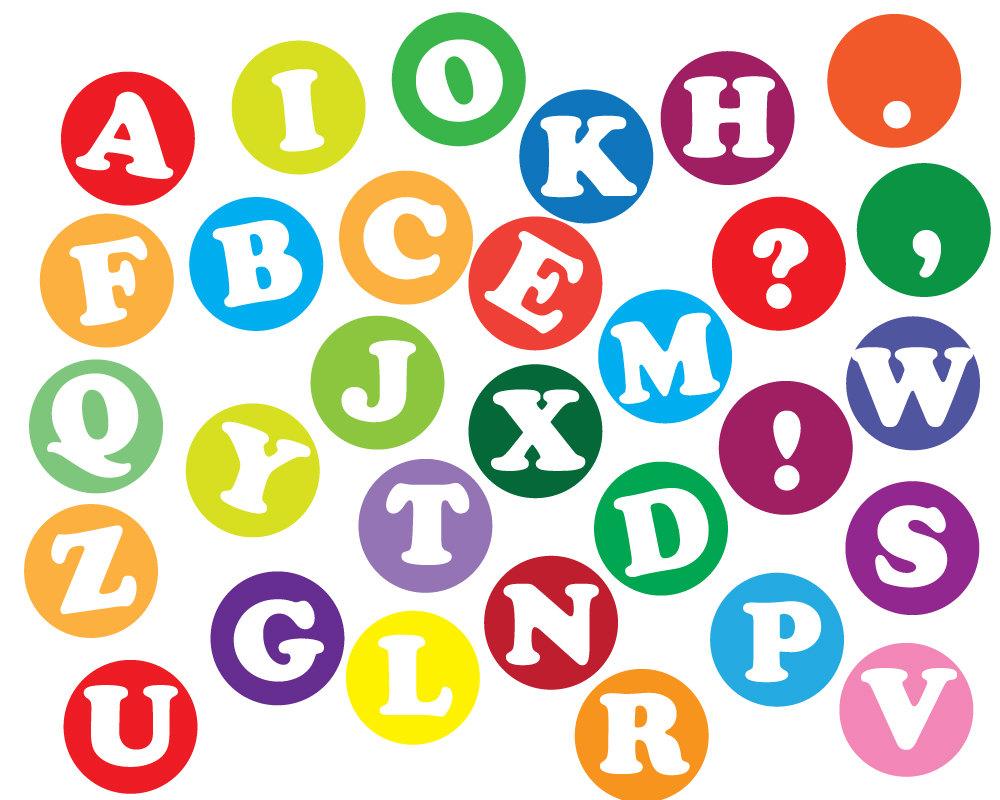 1000x800 Instant Download Alphabet Letters Clip Art, Scrapbooking Letters