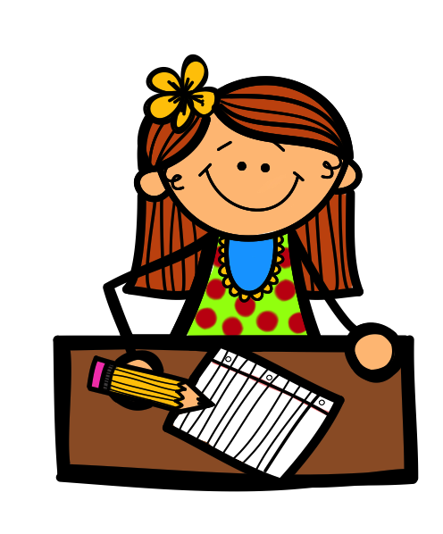 496x598 Writing Letter Clipart