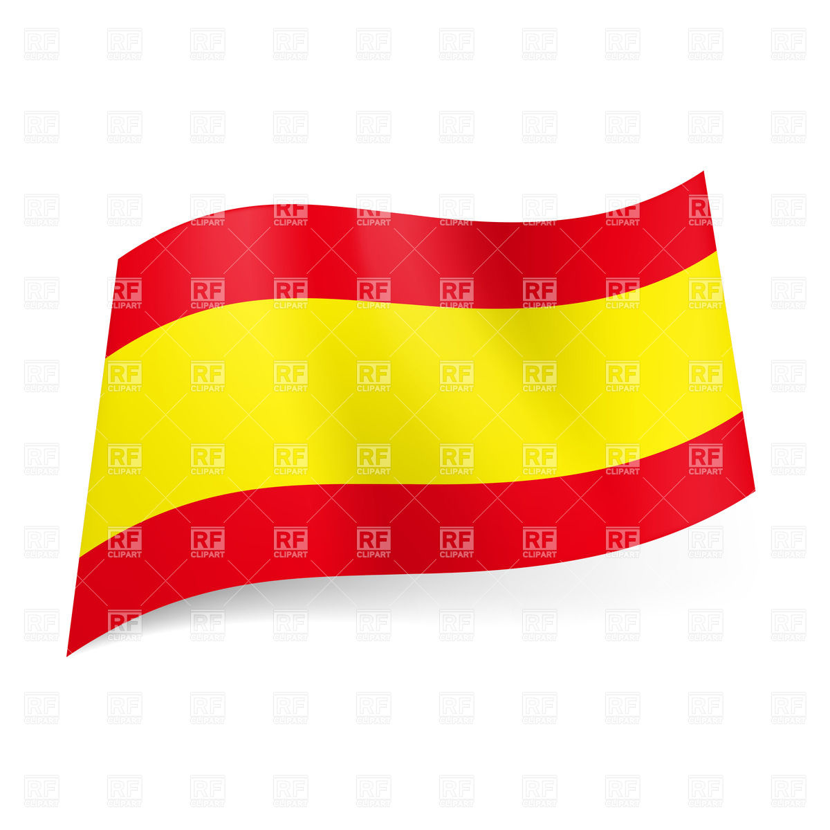 1200x1200 Icon Of National Flag Of Spain Royalty Free Vector Clip Art Image