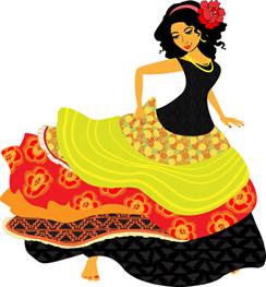 244x263 Spanish Lady Clip Art