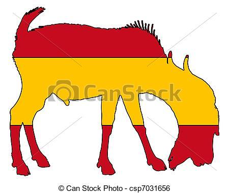 450x380 Spanish He Goat Clip Art Vector