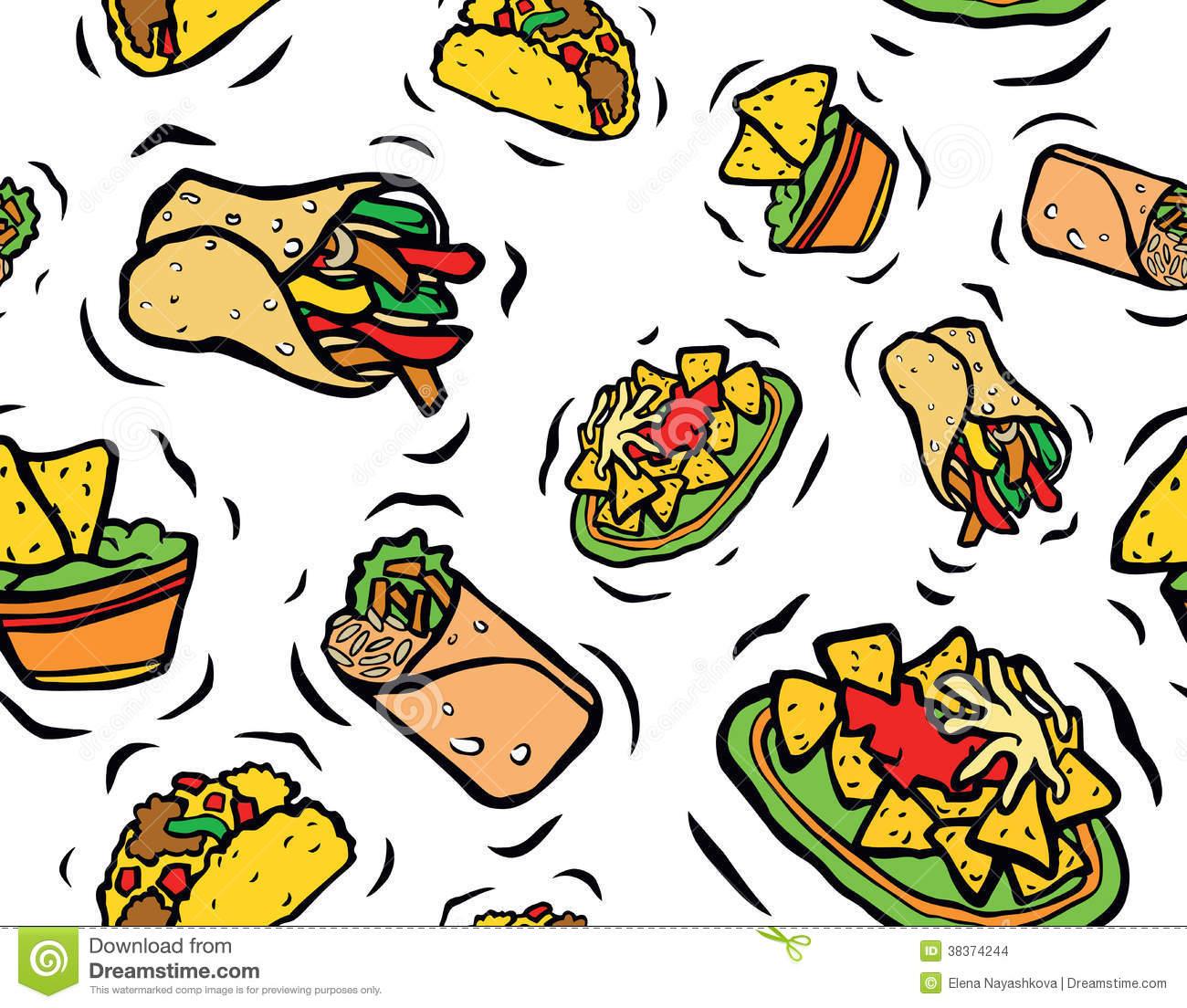 1300x1104 Strikingly Free Clip Art Mexican Food Spanish Clipart Pencil