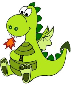 251x300 Sparky My Flat, Green, Fire Breathing Child Baby Dragon And Dragons
