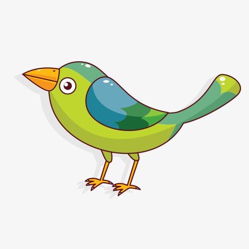 500x500 Cartoon Sparrow Vector, Birds, Cartoon Birds, Ps Creative Posters