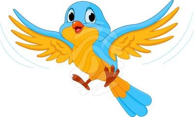 400x242 Flying Sparrow Clipart