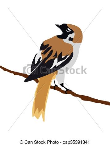 356x470 Sparrow In The Branch.