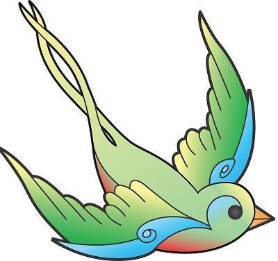 400x376 Tattoo Sparrow Clipart