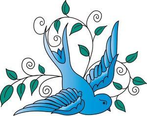 300x237 Blue Sparrow Bird Clip Art Sparrow Clipart Image Blue Sparrow