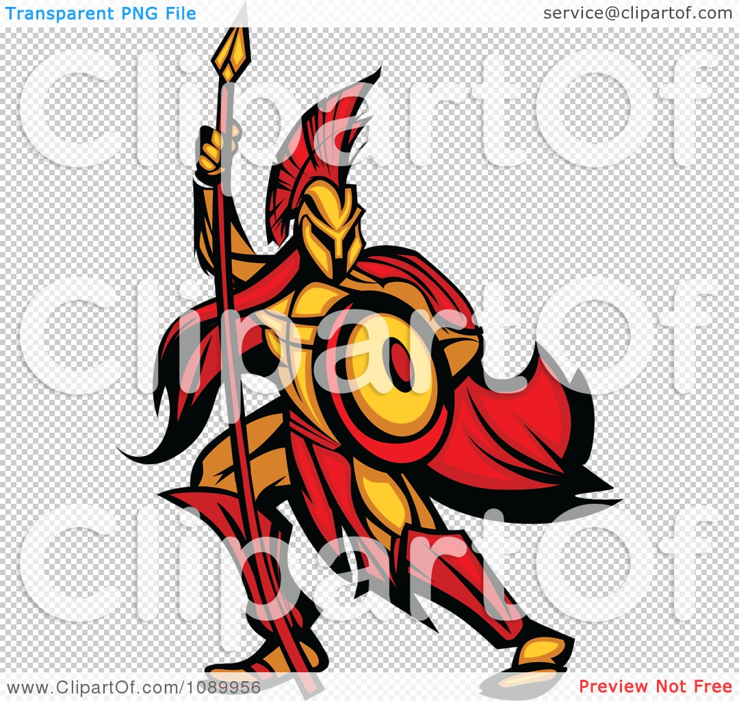 1080x1024 Clipart Spartan Warrior Armed With A Spear And Shield