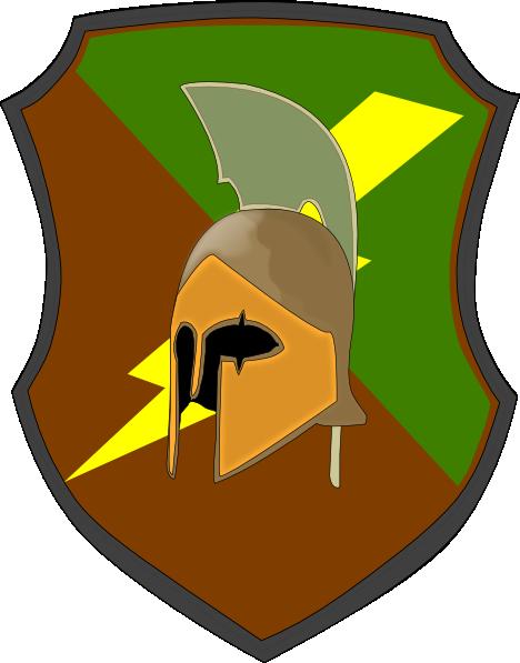 468x597 Lightning Spartan Shield Clip Art