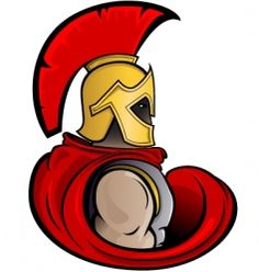 236x248 Graphic Trojan Or Spartan Vector Mascot With Headdress