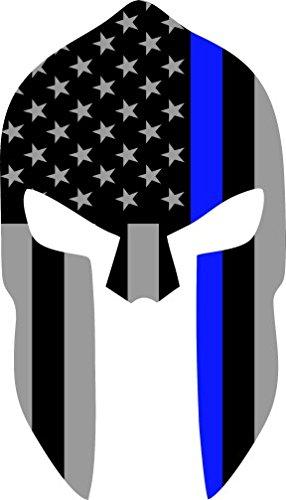 286x500 Subdued Us Flag Spartan Helmet Reflective Decal