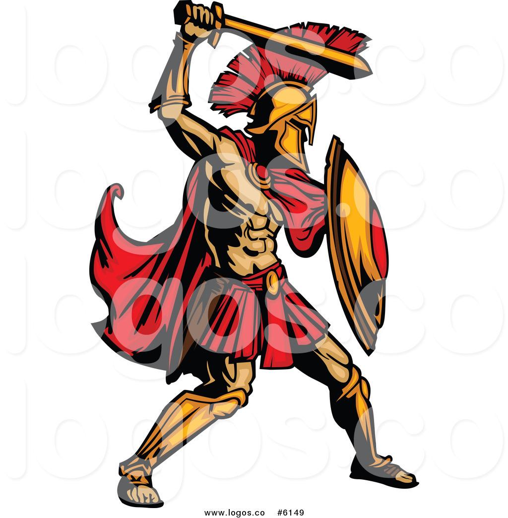 1024x1044 Royalty Free Clip Art Vector Logo Of A Spartan Warrior Ready