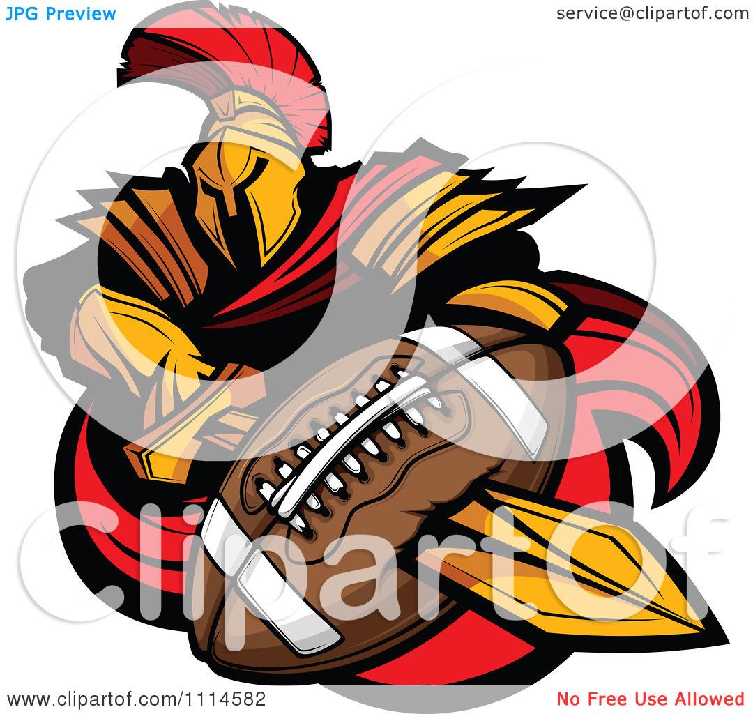 1080x1024 Spartan Football Clipart