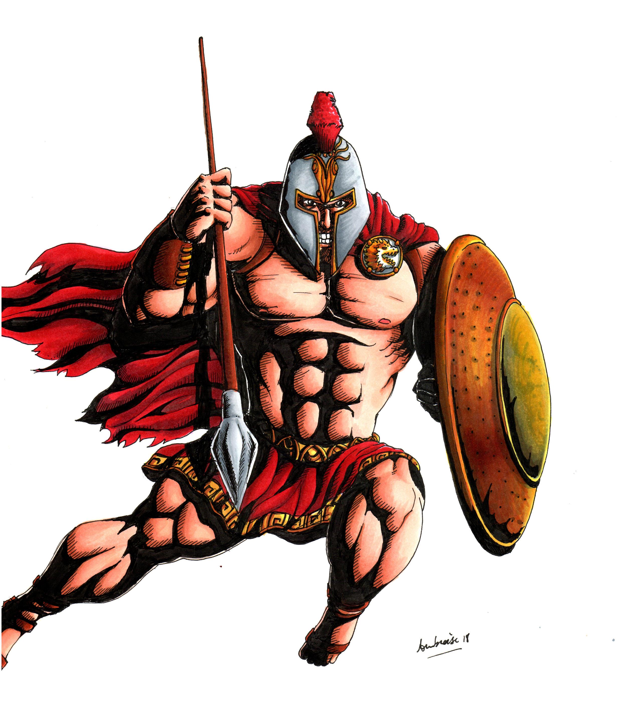 2538x2878 Spartan Warrior By Thefrenchguydraws On Newgrounds