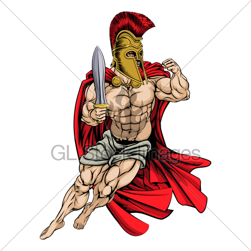 500x500 Spartan Warrior Gl Stock Images