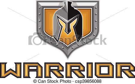 450x280 Spartan Warrior Helmet Shield Retro. Illustration Of A Vector