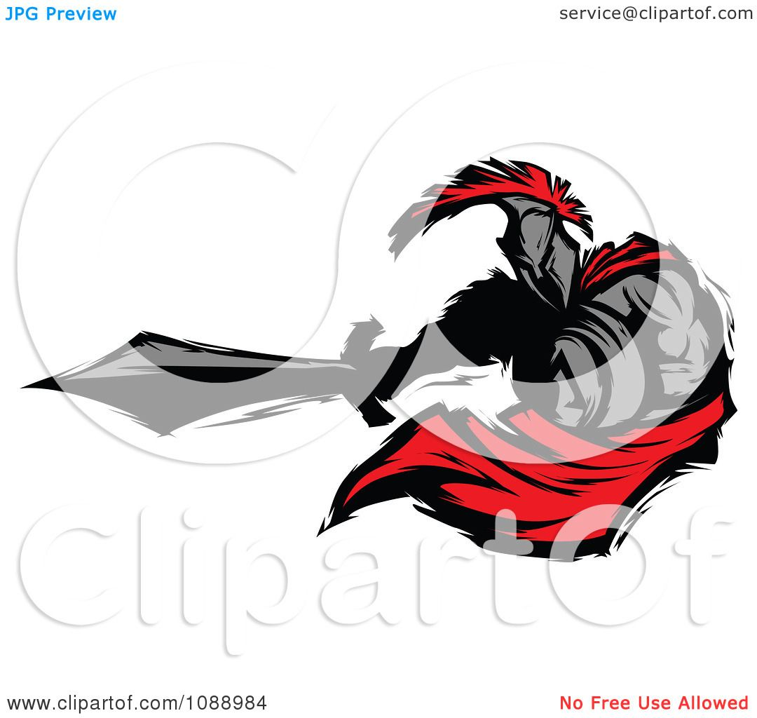 1080x1024 Clipart Spartan Roman Warrior Lunging With A Sword
