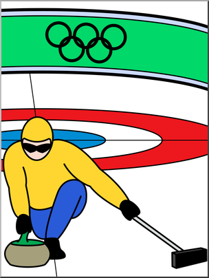 304x404 Clip Art Winter Olympics Curling Color I Abcteach