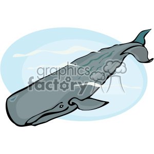 300x300 Royalty Free Deep Diving Sperm Whale 132293 Vector Clip Art Image