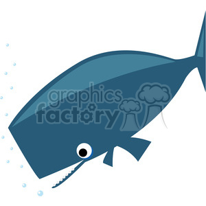 300x300 Royalty Free Sperm Whale Clip Art On White 387157 Vector Clip Art