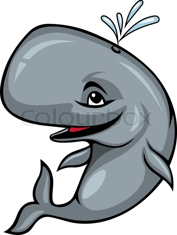 603x800 Smiling Sperm Whale Stock Vector Colourbox
