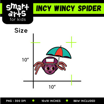 350x350 Incy Wincy Spider (Itsy Bitsy Spider) Clip Art By Smart Arts For Kids