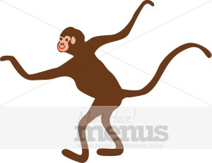 300x231 Monkey Clip Art Kids Menu Clipart