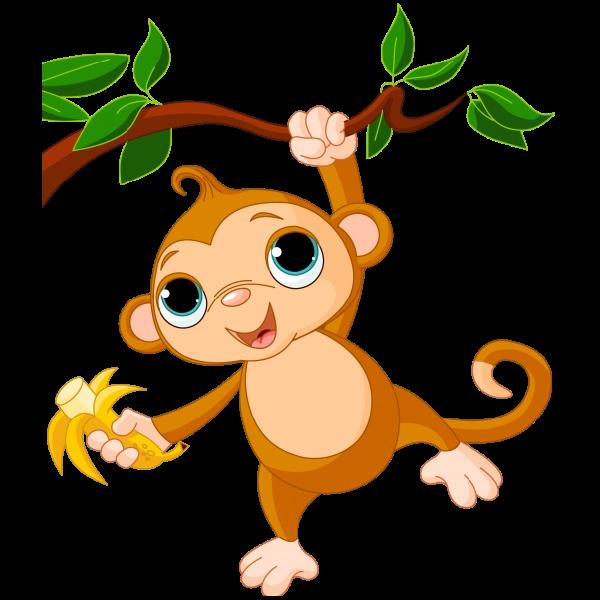 600x600 Spider Monkey Clip Art