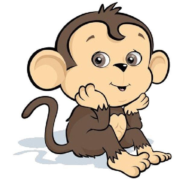 600x600 Cute Baby Monkey Cartoon Images 600 600 Plus Clipart Animal