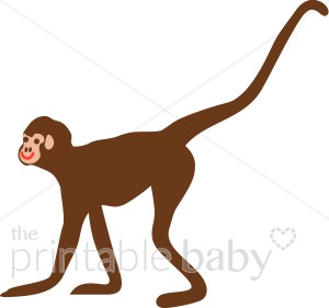 300x281 Monkey Walking On All Fours Clipart Jungle Baby Clipart