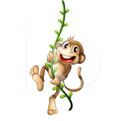 400x420 Collection Of Monkey Swinging Clipart High Quality, Free