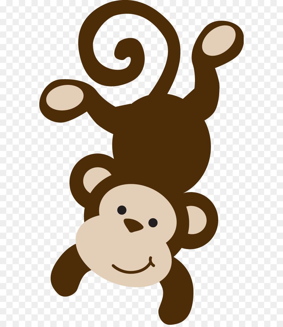 900x1040 Brown Spider Monkey Infant Clip Art