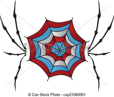 450x381 Color Spiderweb Art. Color Retro Spiderweb Theme Vector Art