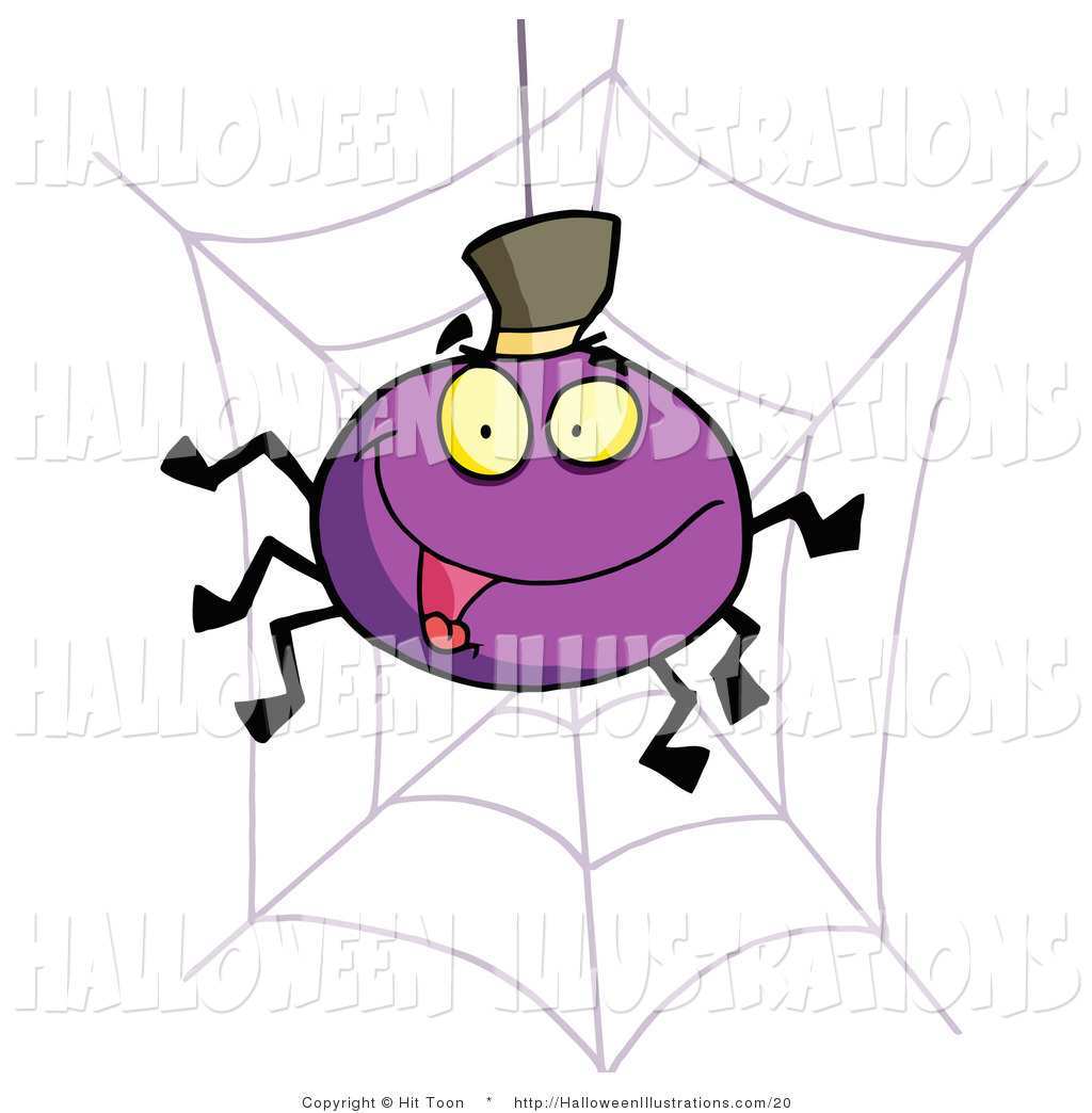 1024x1044 Halloween Cliprt Of Purple Cartoon Halloween Spider Wearing