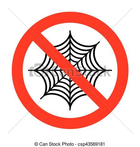 450x470 No Spider On Web Illustration. Vector