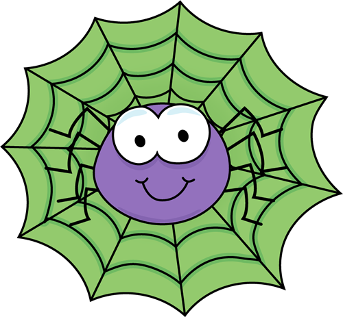 500x463 Spider In A Green Spider Web Spiders And Bugs Printables