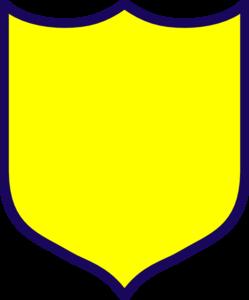 249x300 Yellow Shield Clip Art