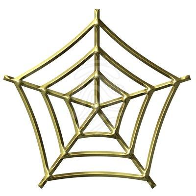 400x400 Clip Art 3d Golden Spider Web Clipart Panda