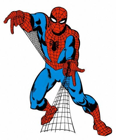 397x480 Spider Man Clipart Red Spider'37229