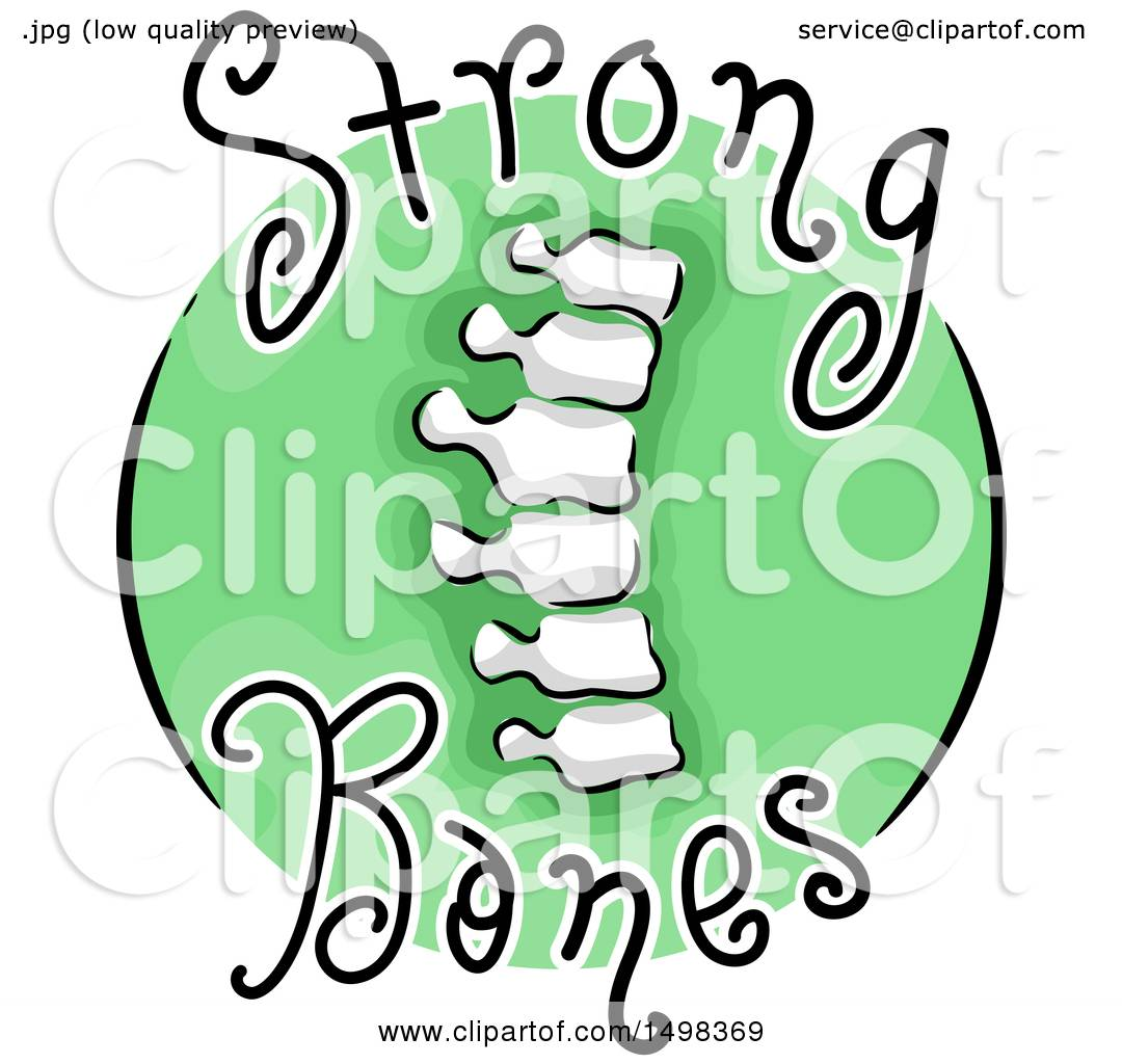 1080x1024 Clipart Of A Spine On A Strong Bones Icon