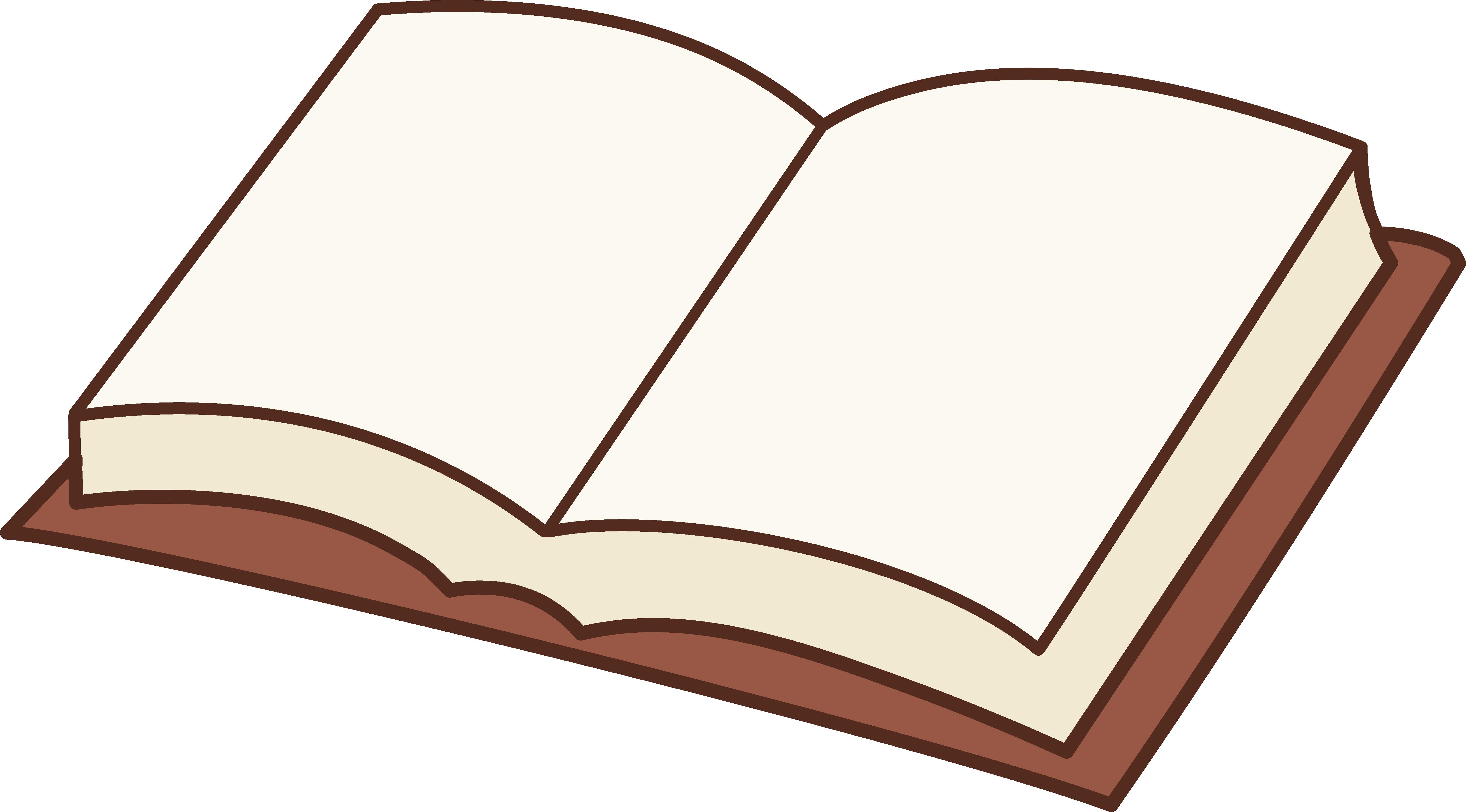 5613x3111 Open Book Clip Art