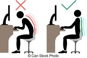 290x194 Sitting Positions Correct Spine Posture Clip Art Vector