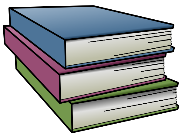 600x450 Stacked Book Spine Clipart