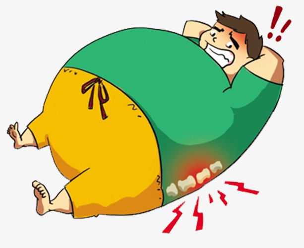 613x500 A Fat Man, Lumbar Spine, Teeth, Obesity Png Image And Clipart