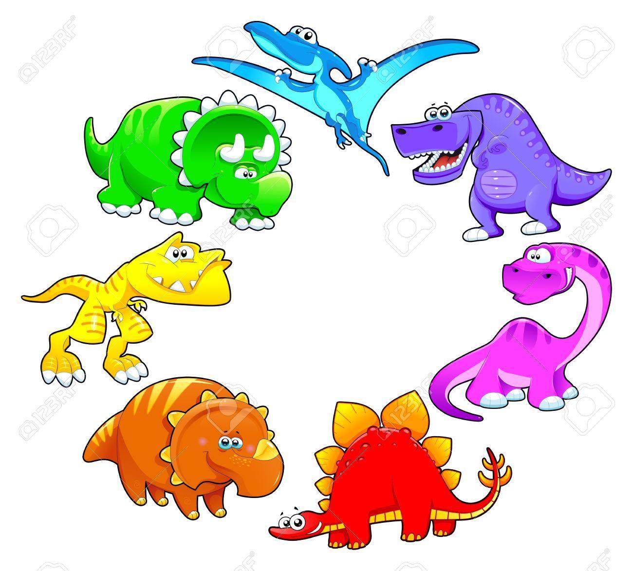 1300x1173 Los Dinosaurios Del Arco Iris. Divertidos Dibujos Animados Y