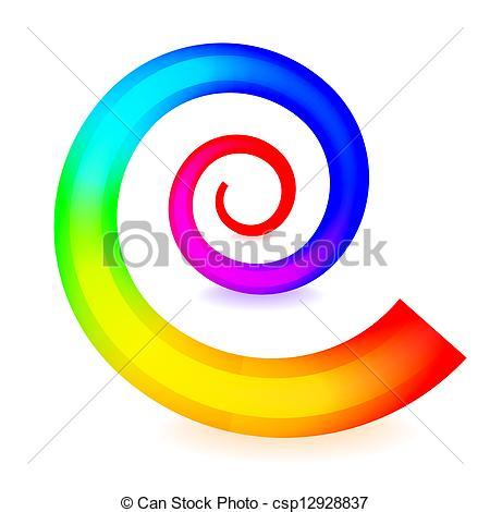 450x470 Colorful Spiral Element Vectors